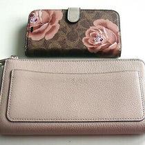 Auth Kate Spade New York Women's Pink Pebble Leather Large Wallet/clutch  Bonus Photo
