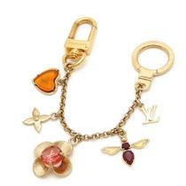 Auth Louis Vuitton Bijou Sac Chaine Fleur M66911 Bag Charm Key Chain Key Ring Photo