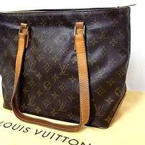 Auth Louis Vuitton Cabas Piano Shoulder Tote Bag Evening Hand Bag Purse Monogram Photo