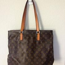 Auth Louis Vuitton Cabas Piano Shoulder Tote Bag Monogram Leather Photo