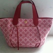 Auth. Louis Vuitton Canvas Beach Line Cabas Ipanema Gm Rose Pink Photo