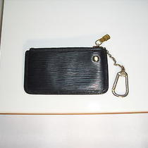 Auth Louis Vuitton Coin Purse Key Ring Epi Leather Black  Photo