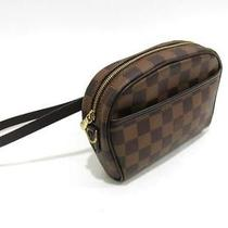 Auth Louis Vuitton Damier Canvas Pochette Ipanema Waist Bag Photo