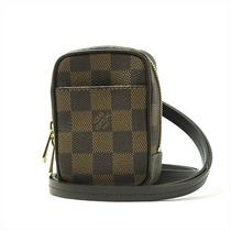 Auth Louis Vuitton Damier Ebene Okapi N61738 Digital Camera  Case F/s Used Photo