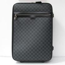 Auth Louis Vuitton Damier Graphite Canvas Pegase 55 Travel Luggage Photo