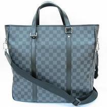 Auth Louis Vuitton Damier Graphite Canvas Tadao Shoulder Bag Crossbody Photo