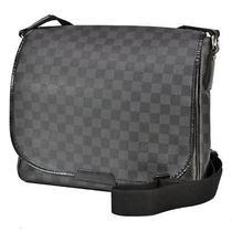 Auth Louis Vuitton Damier Graphite Daniel Mm N58029 Shoulderbag Black Photo
