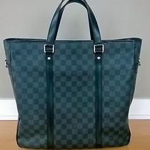 Auth Louis Vuitton Damier Graphite Tadao Gm Tote Bag With Strap Photo