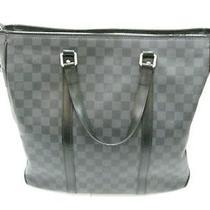 Auth Louis Vuitton Damier Graphite Tadao Shoulder Bag Handbag Crossbody Photo