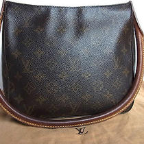 Auth Louis Vuitton Looping Mm Monogram Shoulder Tote Party Hand Bag Brown Photo