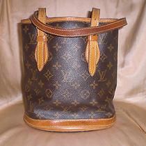 Auth. Louis Vuitton Lv Monogram Canvas Pm Petit Bucket Bag Tote Junk Damaged Photo