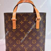 Auth Louis Vuitton Lv Monogram Canvas Vavin Pm Small Bucket Leather Tote Bag Photo