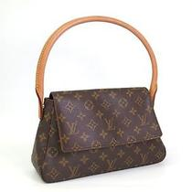 Auth Louis Vuitton Mini Looping Shoulder Bag Monogram M51147(bf050765) Photo