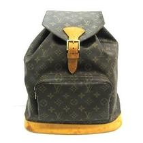 Auth Louis Vuitton Monogram Montsouris Gm Backpack Photo