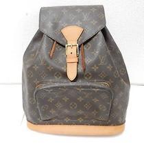 Auth Louis Vuitton Monogram Montsouris Gm Backpack Bag Sp1000 Pre-Owned M51135 Photo