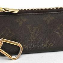 Auth Louis Vuitton Monogram Pochette Cles Coin Case M62650 Lv 99361 Photo