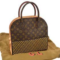 Auth Louis Vuitton Monogram Shopping Bag Studded Hand Christian Louboutin V14567 Photo