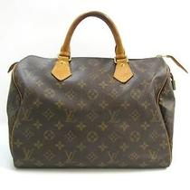 Auth Louis Vuitton Monogram Speedy 30 Handbag Photo