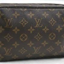 Auth Louis Vuitton Monogram Trousse Toilette 23 Clutch Hand Bag M47524 Lv 99354 Photo