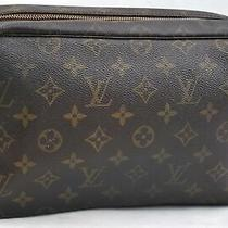 Auth Louis Vuitton Monogram Trousse Toilette 28 Clutch Hand Bag M47522 Lv 99346 Photo