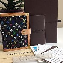Auth Louis Vuitton Multicolor Monogram Canvas Pm Small Ring Planner Agenda Cover Photo