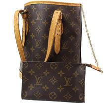 Auth Louis Vuitton Petit Bucket Pm Shoulder Tote Bag Monogram M42238 Junk 1668 Photo