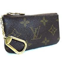 Auth Louis Vuitton Pochette Clefs M62650 Coin Purse W/key Ring Monogram Usa Photo