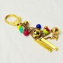 Auth Louis Vuitton Porte Cles Monogram Flower Key Ring Multicolor Metal - E01271 Photo