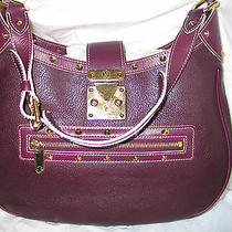 Auth Louis Vuitton Suhali Plum l'affriolant Handbag Photo