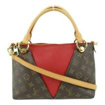 Auth Louis Vuitton v Tote Bb 2way Shoulder Bag M43966 Monogram Red Used Lv Photo