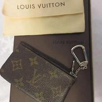 Auth Louis Vuitton Vtg Monogram Pochette Clefs Coin Purse W/ Key Ring & Dustbag Photo