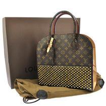 Auth Louis Vuitton X Christian Louboutin Shopping Hand Bag Monogram F01882 Photo