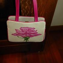 Auth Lulu Guinness Linen & Leather Rose Bag by Nina Campbell Photo