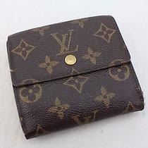 Auth Lv Louis Vuitton Elise Monogram Tri-Fold Purse Junk Wallet Sp0957 - Mprs Photo