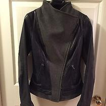 Auth Mackage Wool Leather Motorcycle Jacket Xxs Photo