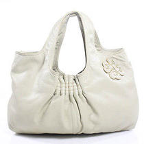 Auth Marc Jacobs Beige Leather Clover Detail Hobo Handbag Photo