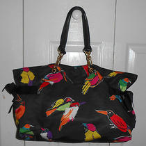Auth Marc Jacobs Rare / Sold Out Birds of Paradise Parrot Tote Xclnt Photo