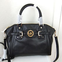 Auth Michael Kors Hudson Large Satchel Bag in Black Nwt Photo