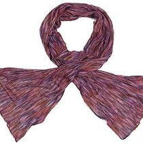 Auth Missoni Jacquard Scarf Stole Purple Multicolor Italy G/c F/s 11259erq Photo