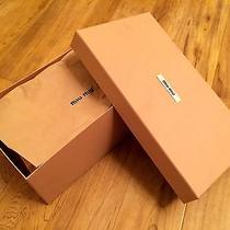 Auth Miu Miu / Prada Empty Shoe Box Storage Bin Pink Gift W/ Paper Closet 12x7x4 Photo