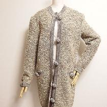 Auth Moschino Couture Wool Jacket Coat Size M Made in Italy Wool Ball Button Photo