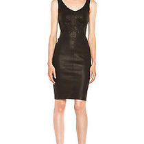 Auth New Alc a.l.c Parker Leather Dress Fits Like a Glove 4 6 Forest as Seen On Photo