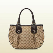 Auth New Gucci Beige Scarlett Stud Interlocking G Hobo Bag/handbag/purse/tote Photo