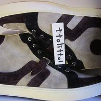 Auth Nib Hermes Multi Suede Leather High Top Sneakers Men ' S Shoes Rare 45   Photo