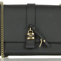 Auth Nwt 2014 Chloe Chloe Black Aurore Padlock Detail Wallet Clutch Photo