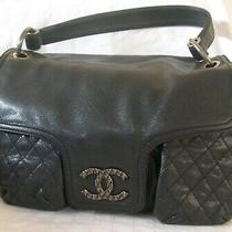Auth Nwt Chanel Glazed Caviar Leather Multi-Pockets Shoulder Purse Bag-Dustbox Photo