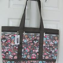 Auth Nwt Lesportsac Swoop Travel Tote Bag in Music Fest Msrp 104 Photo
