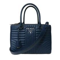 Auth Prada 2way Crossbody Shoulder Hand Bag 1ba863 Calfskin Leather Bluette2 Photo