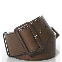 Auth Prada Chestnut Brown Textured Leather Belt Sz 85/34 Photo