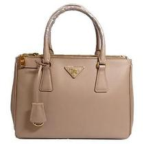 Auth Prada Saffiano Lux Leather Tote Bag Bn 1801 Cammeo Beige Pink Photo